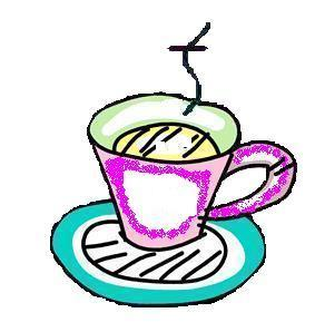 tea cup for bookmark - no pink!-blank